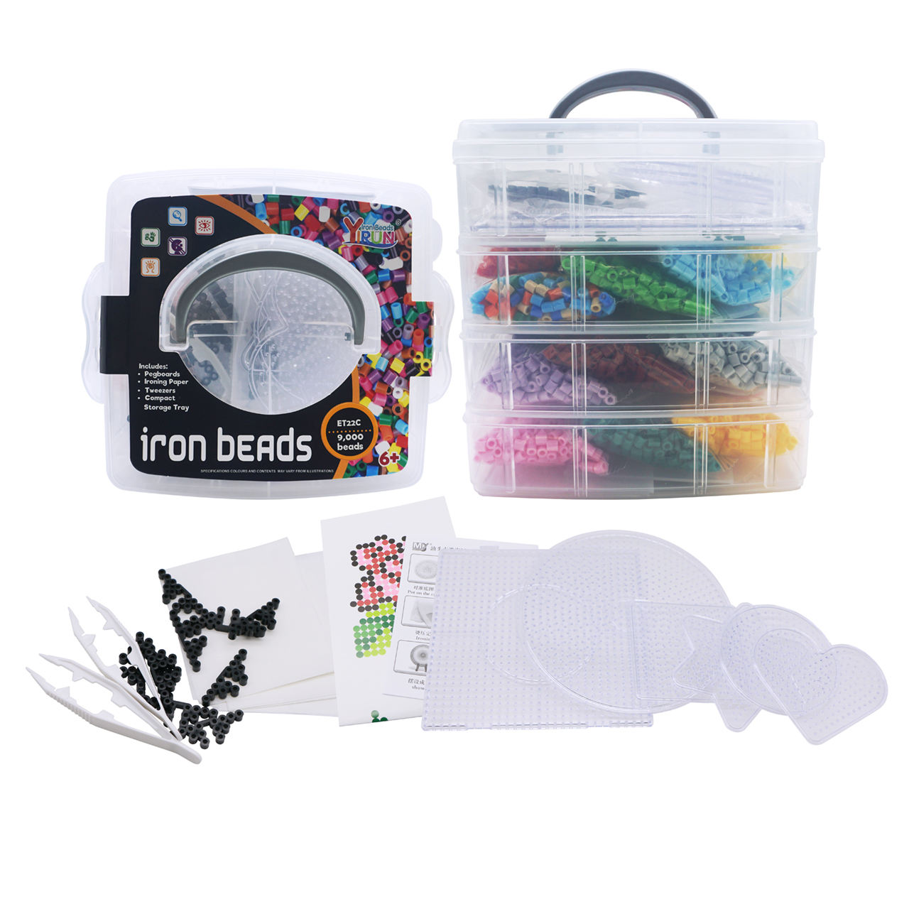 wholesale of the latest trending hot products 5mm plastic fuse bead set iron beads diy kit hama perler beads