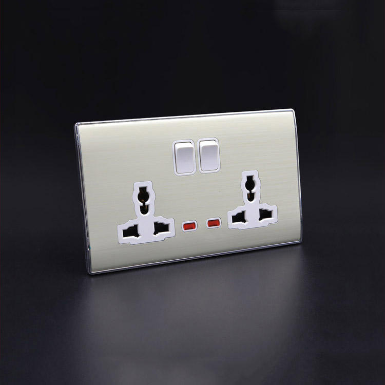 Hot sale 2gang 13amp 3 pin plug mk switch socket