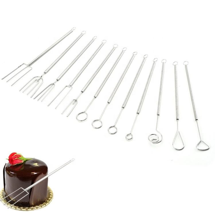 Kwaliteit Roestvrij Staal Chocolade Snoep <span class=keywords><strong>Fondue</strong></span> Dompelen Vorken Set 12pcs SW-BA73C