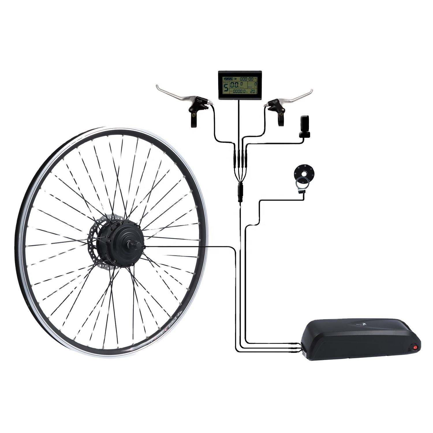 Kit電動自転車バッテリー付属36V 250W統合コントローラ電動自転車キットとLCD
