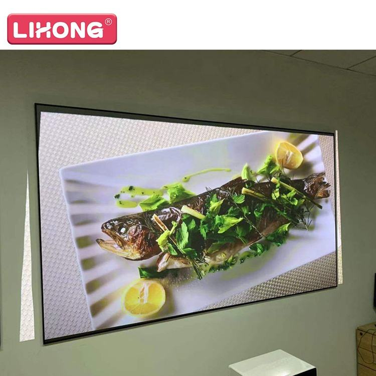 "120"" Ultra Short Throw PET CRYSTAL alr projection screen for laser projector ambient light rejecting projection screen"