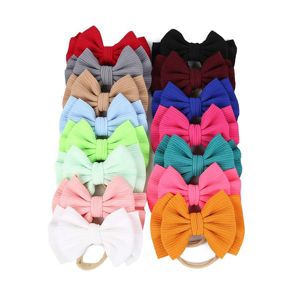 21 colors baby hair bows Headbands Girls Kids 2019 Newest Design Baby Hair Accessories Set For Girls Kids Headbands Hair Clips