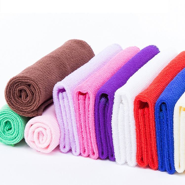 Pastel color microfiber face towel for travel