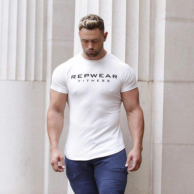 Top Quality Breathable Dry Fit Male Tee Shirt Short Sleeve Fitness Men Sportswear Apparel Mens