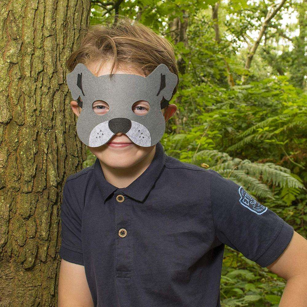 Felt Dog Masks for Kids Party Great for Animal Themed Birthday Parties, Novelty Dress-up and Halloween