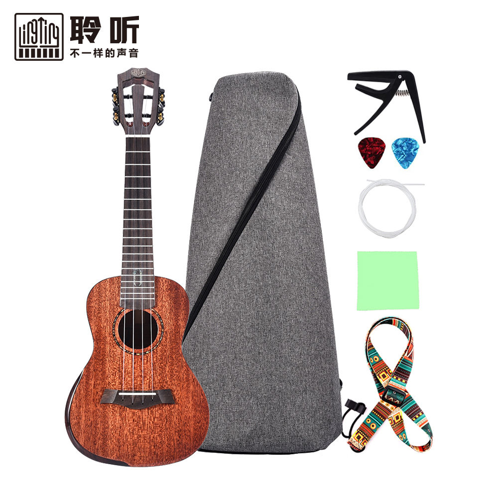 Lingting <span class=keywords><strong>Professionele</strong></span> High-End 26 Inch Concert <span class=keywords><strong>Tenor</strong></span> Ukulele Alle Massief Mahonie