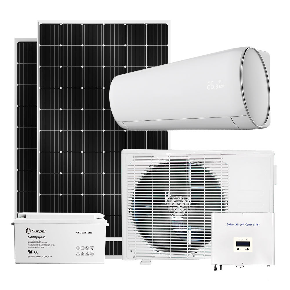 Off Grid Solar Air Conditioner 48V Dc Inverter Ac Units For Cooling 9000Btu 12000Btu 18000Btu 24000Btu