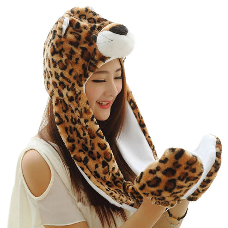 AIMINYZ latest wholesale lovely animals long caps warm hat girls cute cartoon fun hats winter women for ski party cosplay