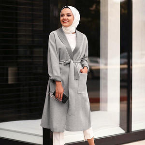 Gratis Verzending Turkse 2020 Islamitische Vallen Kleding Dames Lange Tops Moslim Trui Vrouwen Winter Dragen Jas