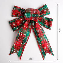 In stock wholesale holiday party ribbon bow xmas tree ornament red christmas bows