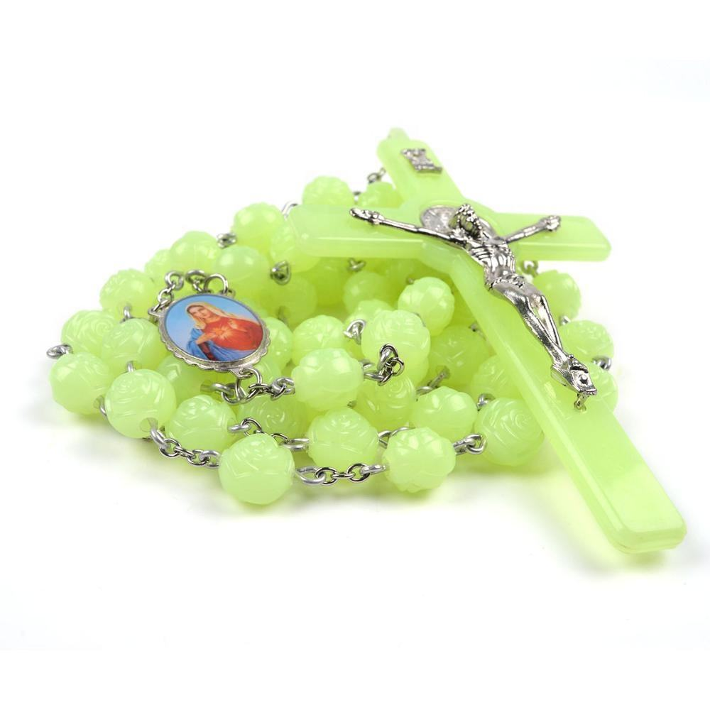 Cross Plastic Beads Catholicism Wall Rosary