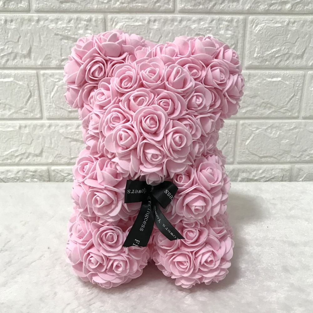Many colors you can choose customized gift box customized ribbon Bear Rose Bear with Gift Box