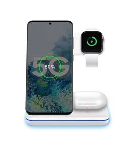 15W 3 in 1 wireless charger stand phone With Desk Lamp