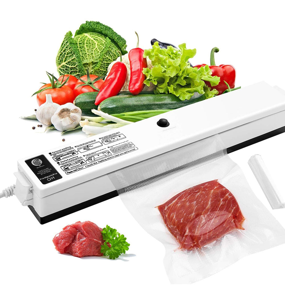One-Button Sealer Sealing System Food Vacuum Sealer Machine, Home Kitchen Use Vacuum Food Sealer-