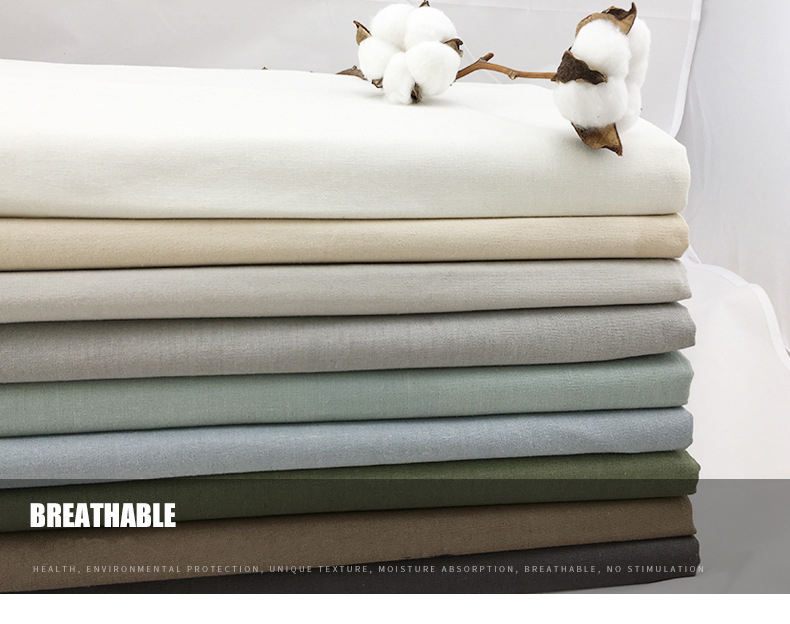 Comfortable Spring And Summer Woven Plain 45% Cotton 55% Linen Fabric For Cushion