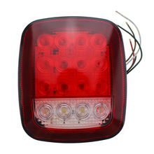 16LED Stop Tail Lights Rear Brake Turn Stop Lamps Fit for Jeep Wrangler TJ CJ