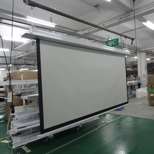 120'' aluminum casing hidden in ceiling matte white electric/motorized/automatic projector screen