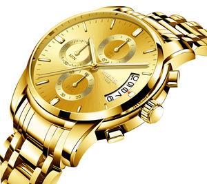 NIBOSI 2353 Relogio Masculino Men Watches Luxury Top Brand Fashion Casual Dress Watch Military Quartz Wristwatches Saat