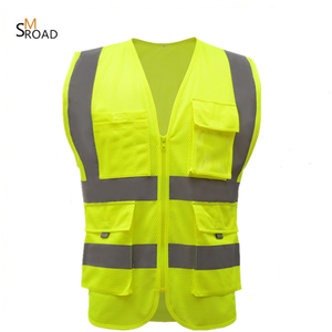 customized manufacture hi vis workwear MESH vest safety jacket YELLOW reflective safety vest class 2