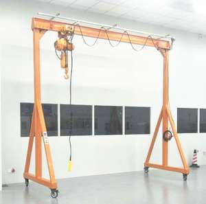 adjustable height customized 1 2 3 5 10 ton small mini mobile portable gantry crane with 4 wheels