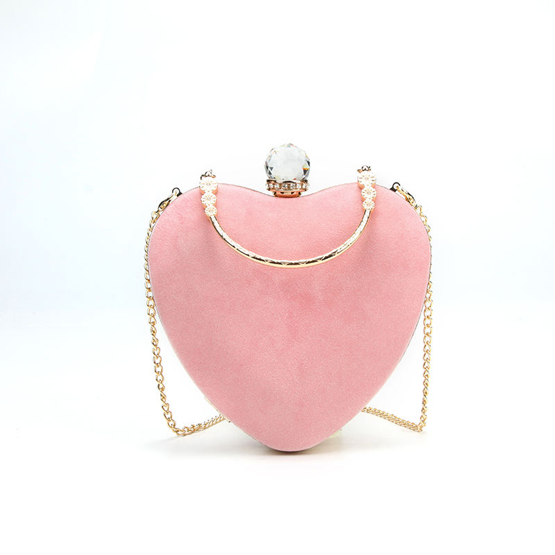 New fashion heart-shaped evening clutch bags shoulder bag Evening Bag wholesale clear handbags factory price in china MOQ2