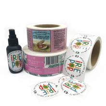 Logo Printing Stickers Roll  Cosmetic Bottle Customized Fancy Adhesive Packaging Label Sticker Printing