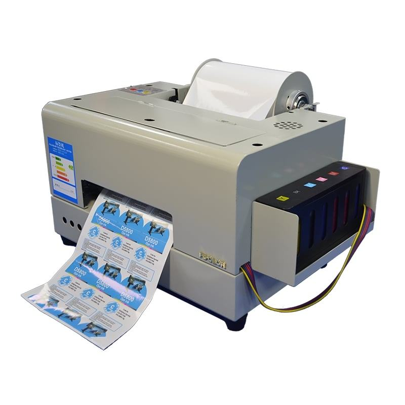 Small Label Printer 4 Colour Adhesive Rolls Sticker Printing Machine A4 Label Inkjet Printer Logo Sticker Printing Machine