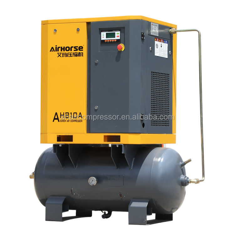 Food Beverage Factory [ Compressors Pump ] Compressor Pump Factory Selling Mini 7KW 8bar Air Compressors Pump With Air Tank For Hotspray