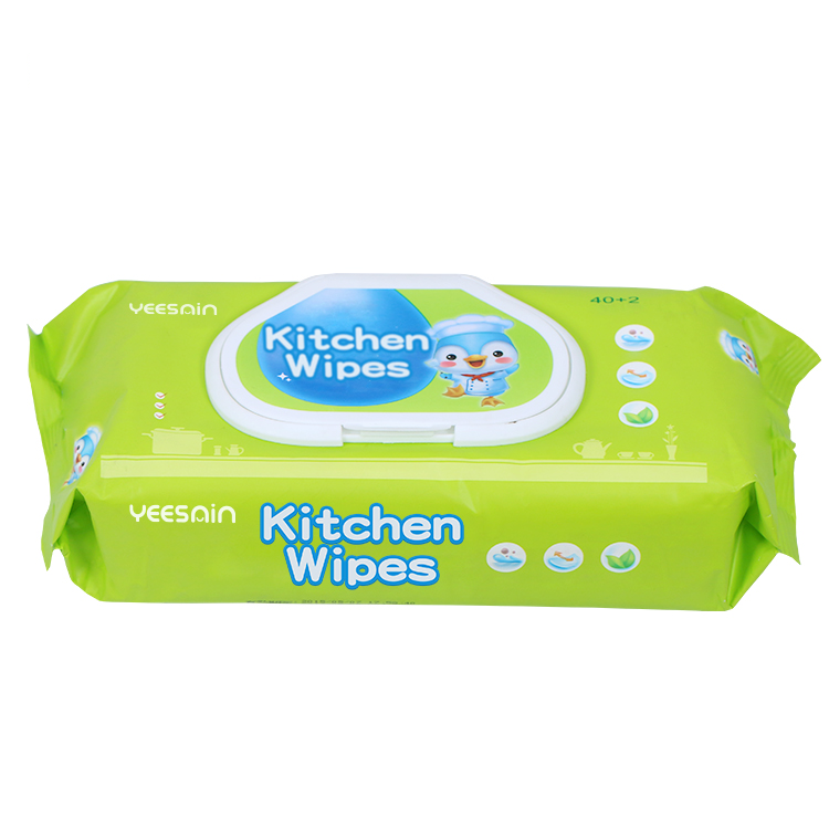 Disposable Ultra Compact Bamboo Kitchen Surface Clean Stain Removing Large Cooling Wet Wipe For Kitchen