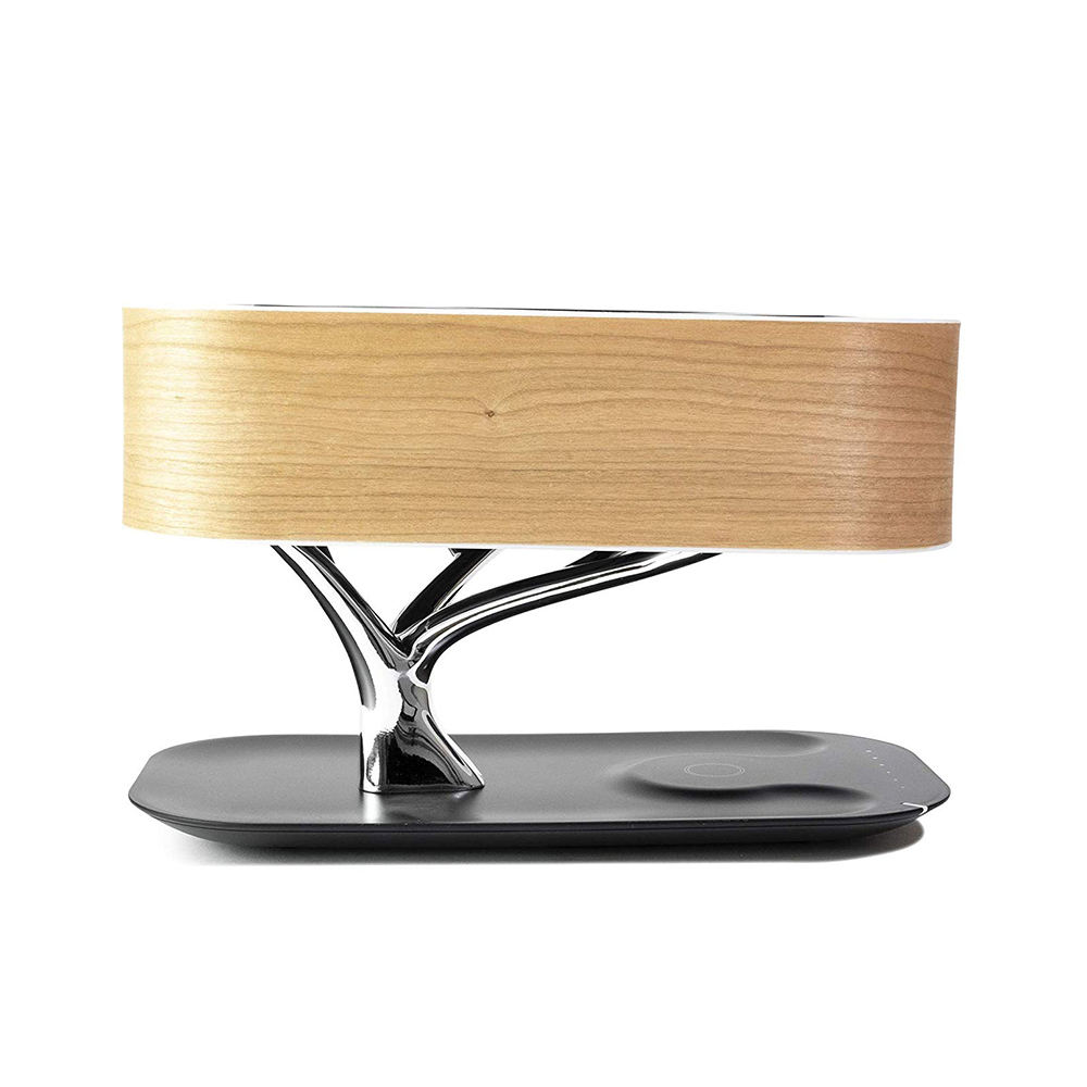 Home tree LED speaker bed tree lamp with bluetooth speaker and wireless charger for home
