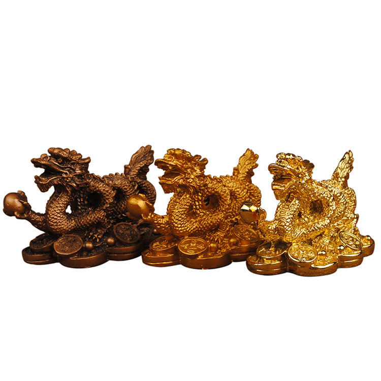 Garden Copper Color Small Dragon Statue