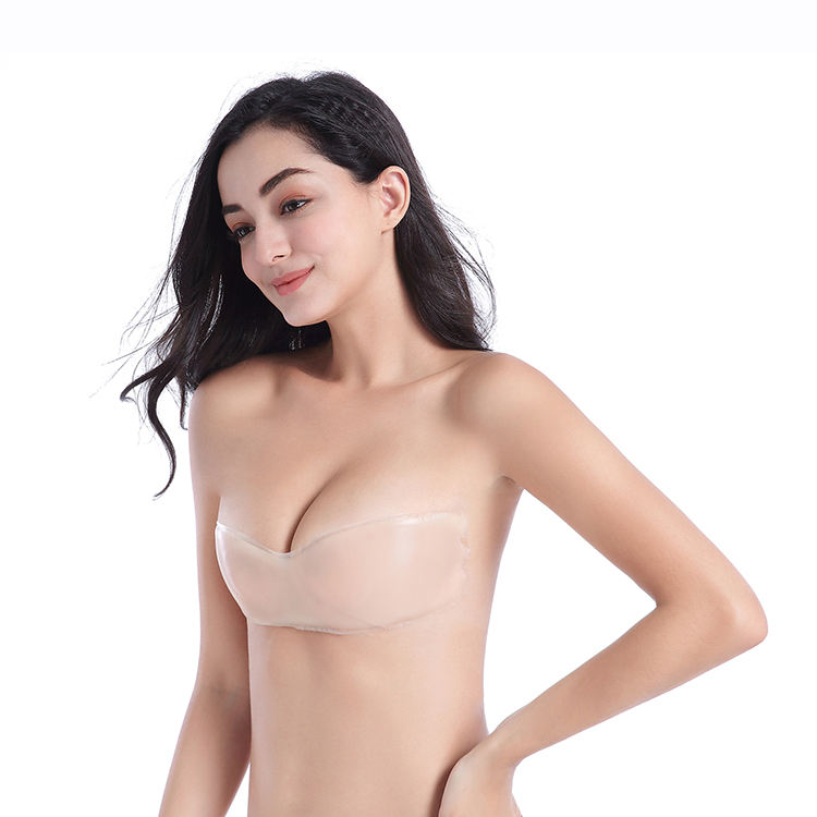 Wholesale Push Up Silicone Bra Strapless Backless Adhesive One-Piece Invisible Bra