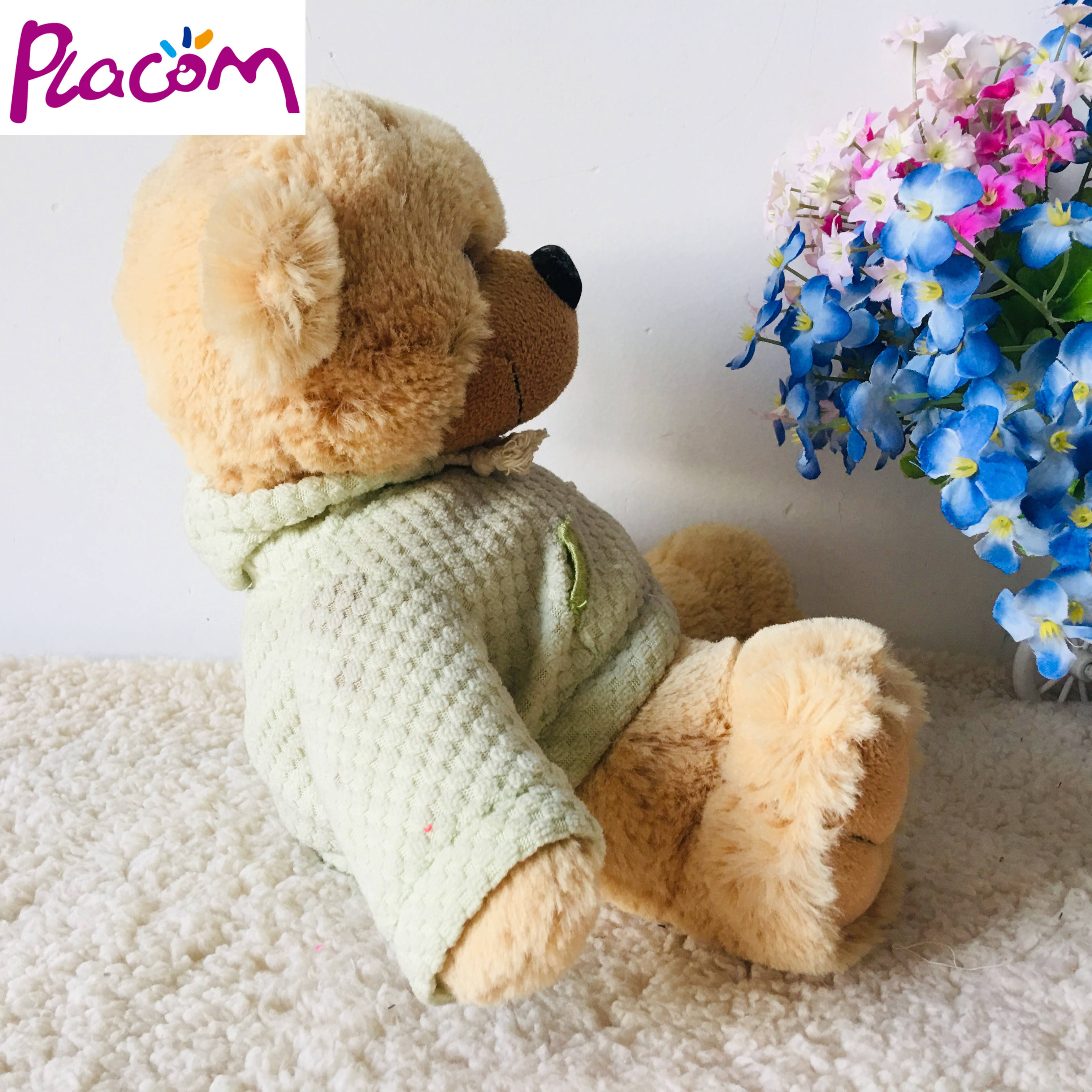 2020 Custom sitting plush teddy bear with clothes birthday gifts toys