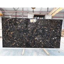 Artificial black marble italian marble Portoro polished slab stone panels