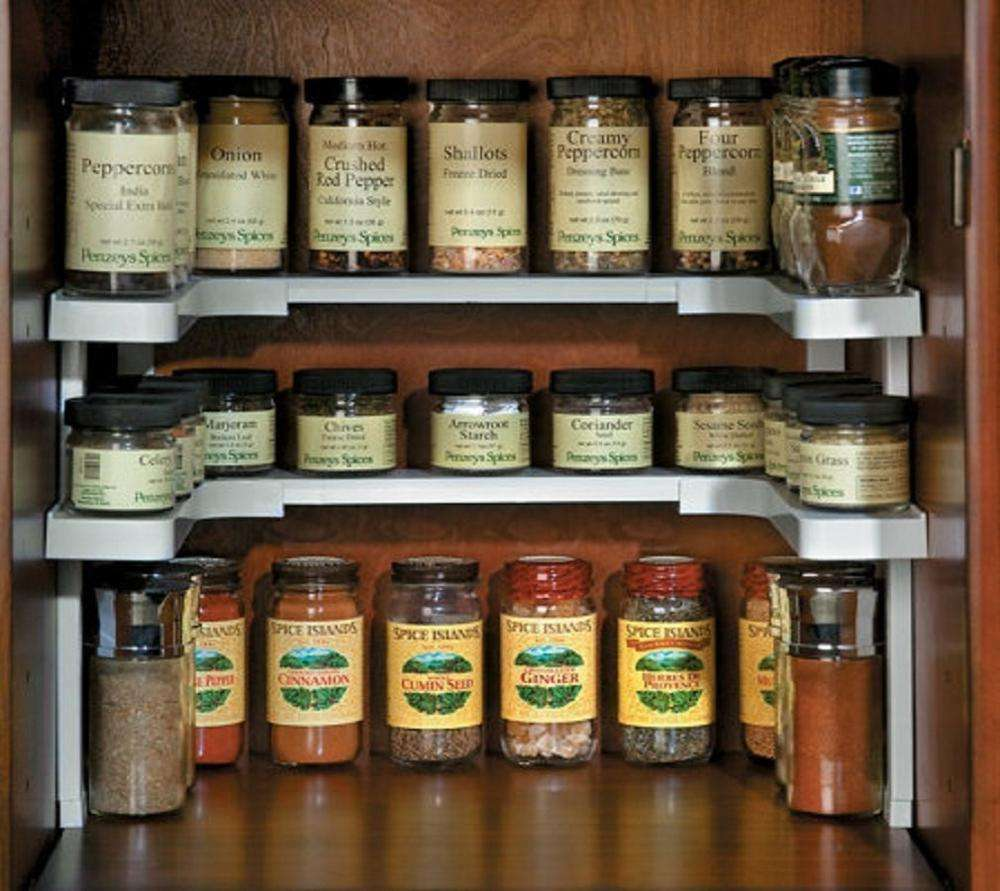 Spice Rack and Stackable shelf Organizer