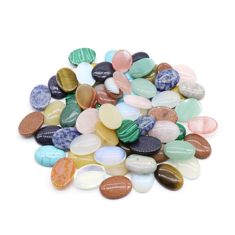 18*25mm Oval Shape Cabochons Mixed Color Gifts Gemstone Accessories Stone Beads Jewelry Making