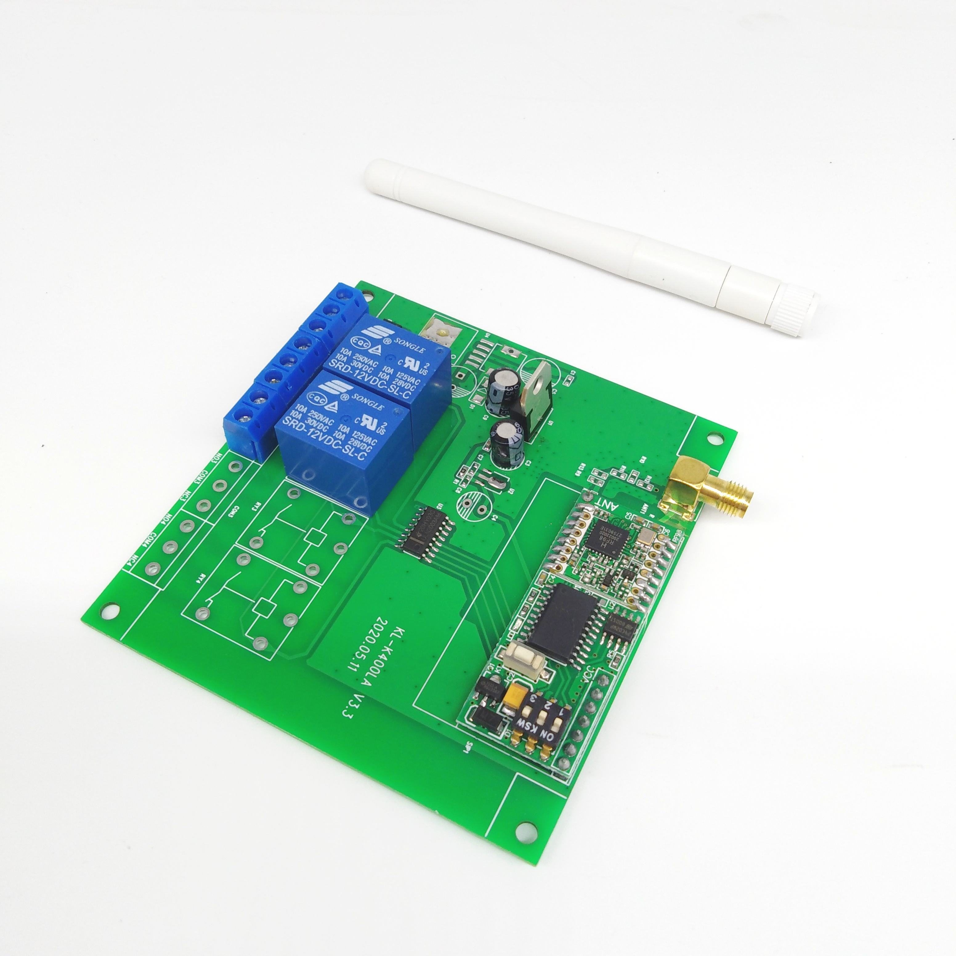 868MHzワイヤレスTwo方法Relay Board LORA RF RemoteコントローラKL-K400LA-2ch
