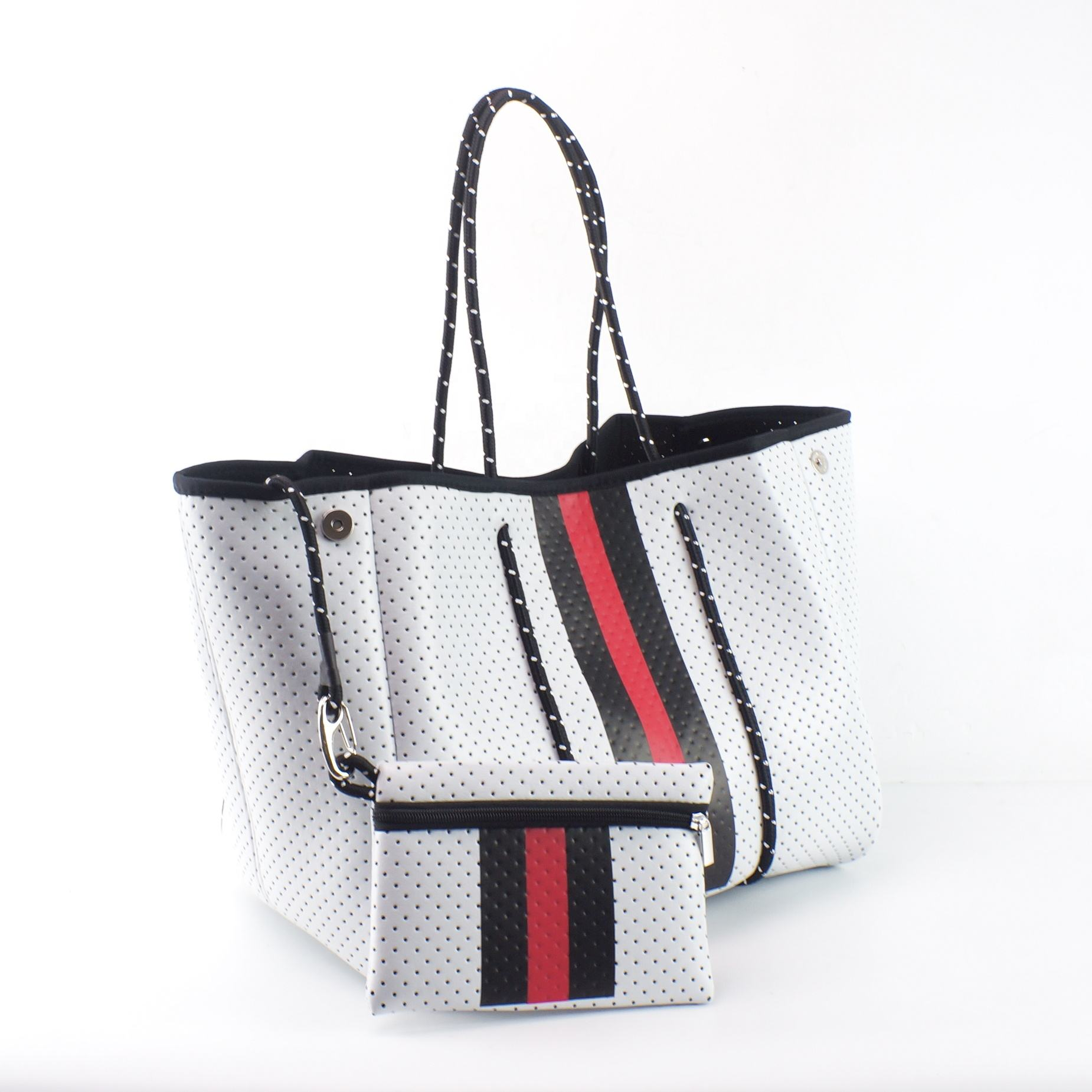2020 Best Selling Perforated Neoprene Bag Wholesale Beach Bag summer sea bag handbags for women