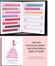 Wholesale New 192 Colors Display Card Nail Polish Color Chart Book for professional Salon