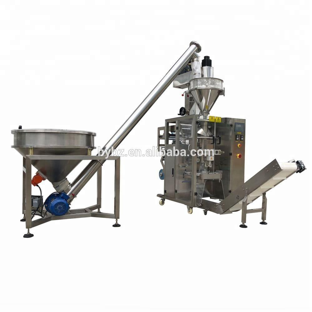 YB-420F collar type auger filler pouch packing machine 200ml 500g Mace Powder packing filling machine