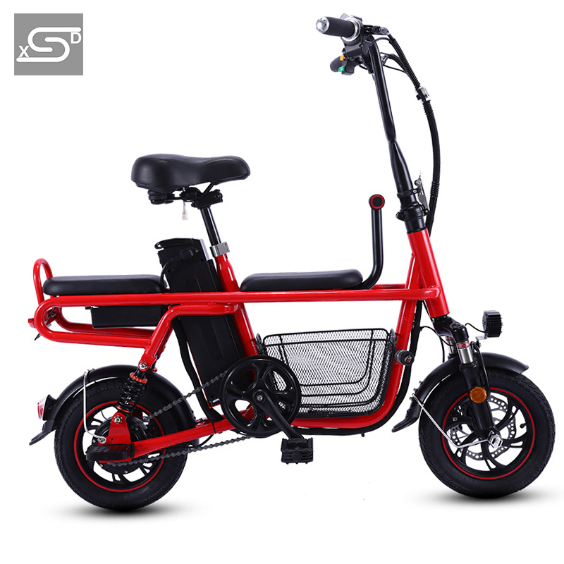 Mini City e bike 240W electric bicycle 48v 16ah three seats electric bike
