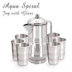 STAINLESS STEEL JUG WITH 6PCS GLASS