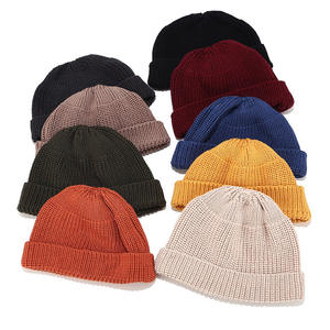 Men's Winter Hat Plain Short Slouch Knit Beanies Melon Ski Skull Cap