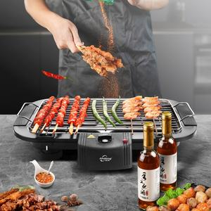 Portable Tabletop Korean Electric BBQ Electric Barbecue Grill Table Style Height Adjustable