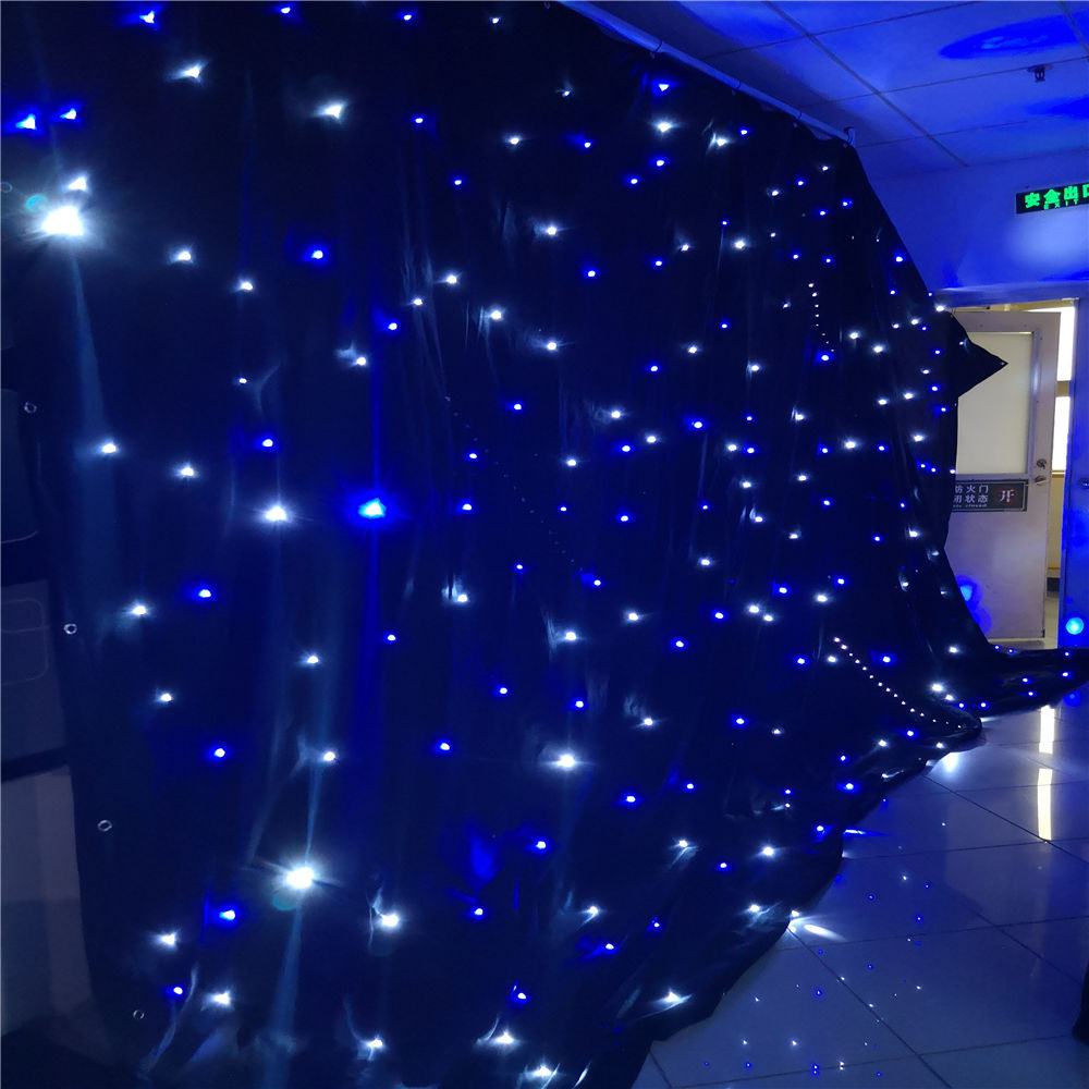 Twinkling drape with LED bling bling LED star curtain for night party