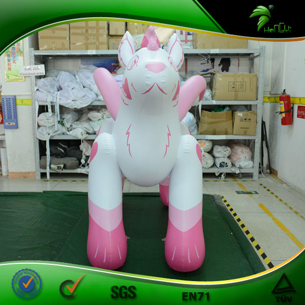 Hongyi Sph Animals Top Quality Cute Inflatable Pink Flying Wolf with Wings for Riding