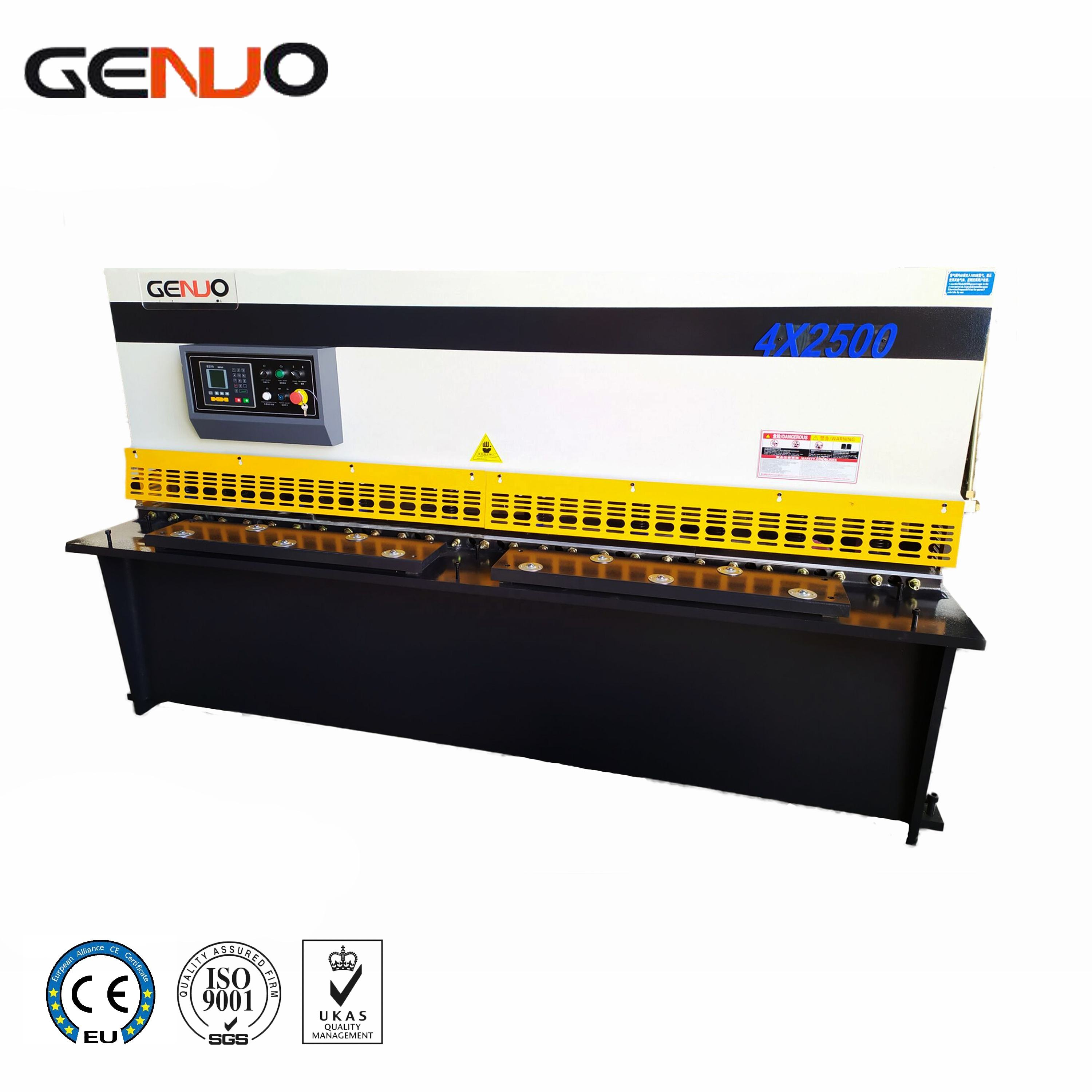 4mm*2500mm automatic metal sheet plate hydraulic shearing machine price with E21s CNC control