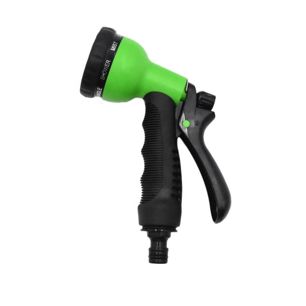 Hot selling garden watering 8 patterns spray gun promotion garden water spay nozzle garden hose nozzle