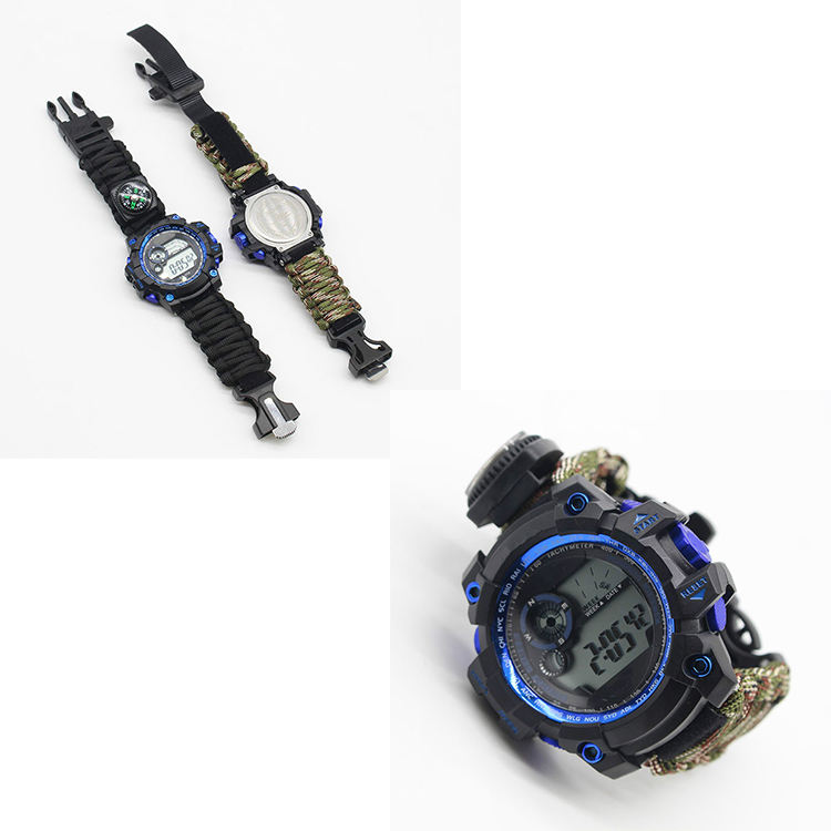 Waterproof Watch Adjustable Length Paracord Survival Bracelet Survival Bracelet Watch With Quick Release Buttons