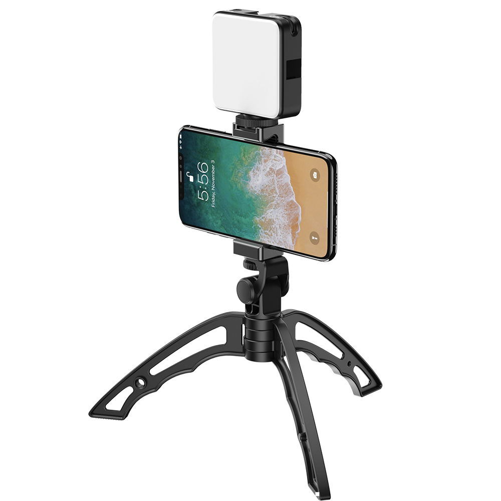 2020 trend Fotografia Mobile Vlogging Accessori HA CONDOTTO LA Luce Da Tavolo Treppiede Livestreaming Selfie Video <span class=keywords><strong>Rig</strong></span> Kit